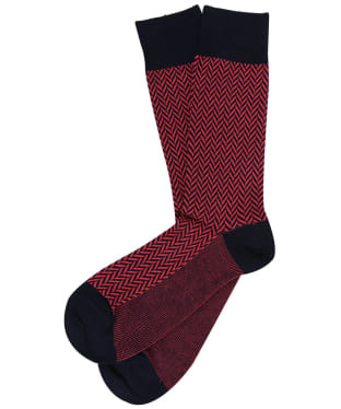 Men's GANT Herringbone Socks - Watermelon Red
