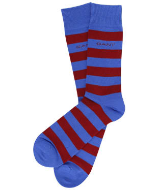 Men's GANT Block Stripe Socks - Periwinkle Blue