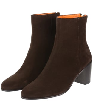 Women's Fairfax & Favor Knightsbridge Boots - Chocolate Suede