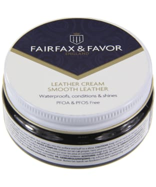 Fairfax & Favor Black Leather Cream