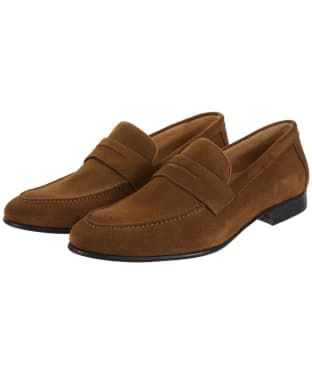 Men's Fairfax & Favor Balmoral Suede Loafers - Tan Suede