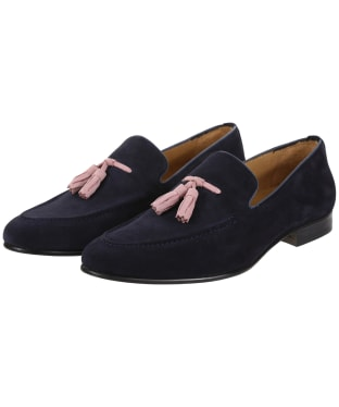 Men's Fairfax & Favor Bedingfield Suede Loafers - Navy Blue Suede