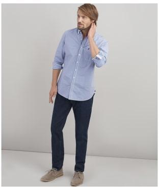 Men's Joules Hewney Shirt - BLUE/WHITE GNGM