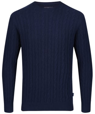 Men's Barbour Sanda Crew Knit - Navy