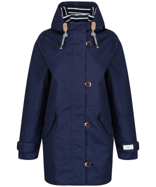 7d8e9abd947 Women s Joules Coast Mid Length Waterproof Jacket - French Navy