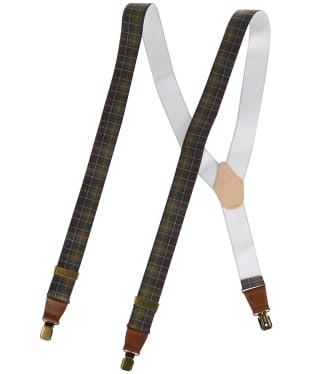 Men's Barbour Tartan Braces - Classic Tartan