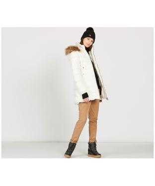 Women's Aigle Rigdown Mid Length Puffer Jacket - Off White
