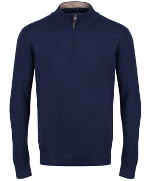 Men's Joules Hillside Zip Neck Jumper - French Navy Marl