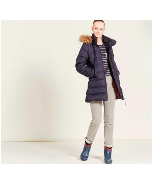 Women's Aigle Rigdown Mid Length Puffer Jacket - Dark Navy