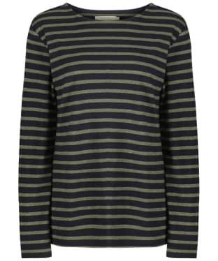 Women's Seasalt Sailor Shirt - Breton Dark Night Olive