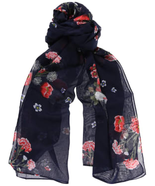 Women's Joules Wensley Scarf - Navy Floral