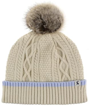 Women's Joules Anya Bobble Hat - Cream Marl