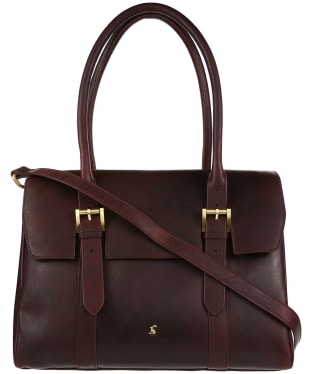 Women's Joules Durham Leather Tote Bag - Oxblood