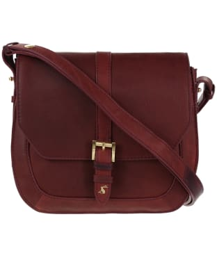 Women's Joules Saddle Leather Bag - Oxblood