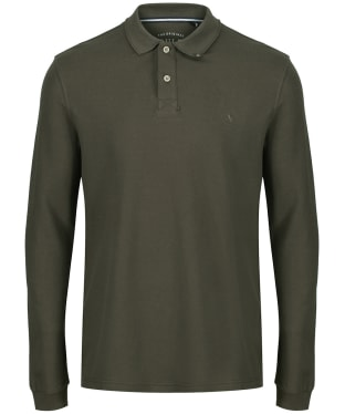 Men's Joules Woodwell Long Sleeved Polo Shirt - Green