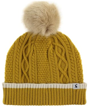 Women's Joules Anya Bobble Hat - Gold