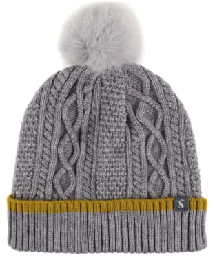 582fd5e3d2447 Women s Joules Anya Bobble Hat - Light Grey Marl