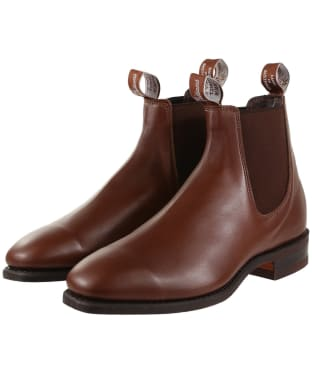 R.M. Williams Comfort Craftsman Boots - Yearling leather, comfort rubber sole - H (Wide) Fit - Dark Tan