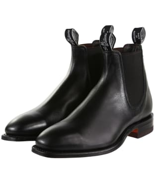 R.M. Williams Classic Craftsman Boots - Yearling leather, classic leather sole - H (Wide) Fit - Black