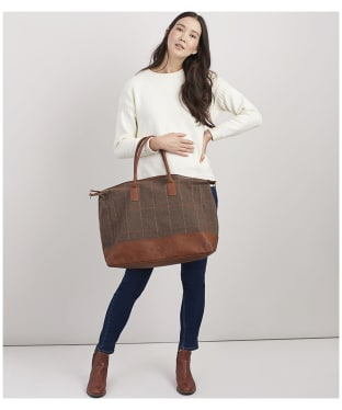 Women's Joules Paddington Tweed Holdall - Hardy Tweed