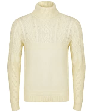 Men's GANT Aran Roll Neck Sweater - Cream