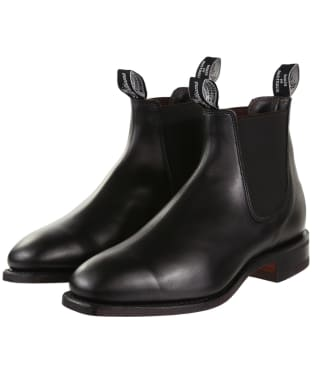 R.M. Williams Comfort Craftsman Boots - Yearling leather, comfort rubber sole - G (Regular) Fit - Black