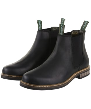 Men's Barbour Farsley Chelsea Boots - Black Nubuck