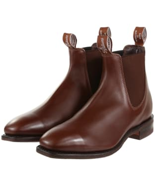 R.M. Williams Comfort Craftsman Boots - Yearling leather, comfort rubber sole - G (Regular) Fit - Dark Tan