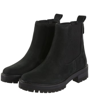 Women's Timberland Courmayeur Valley Chelsea Boots - Jet Black