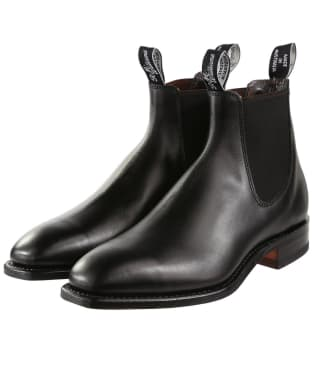 R.M. Williams Classic Craftsman Boots - Yearling leather, classic leather sole - G (Regular) Fit - Black
