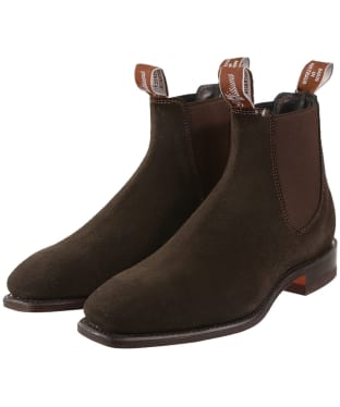 R.M. Williams Classic Craftsman Boots - Suede leather, classic leather sole - G (Regular) Fit - Chocolate
