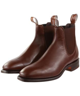 R.M. Williams Classic Craftsman Boots - Yearling leather, classic leather sole - G (Regular) Fit - Dark Tan