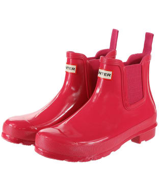 Women's Hunter Original Chelsea Gloss Boots - Bright Pink