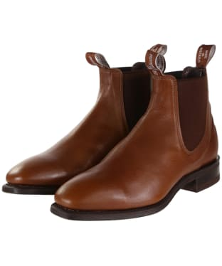 R.M. Williams Comfort Craftsman Boots - Kangaroo leather, comfort rubber sole - H (Wide) Fit - Tan Bark