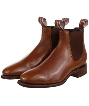 R.M. Williams Comfort Craftsman Boots - Kangaroo leather, comfort rubber sole - G (Regular) Fit - Tan Bark
