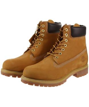 """Men's Timberland 6"""" Premium Boots - Wheat Nubuck"""