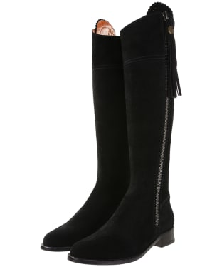 Women's Fairfax & Favor Flat Regina Boots - Black Suede