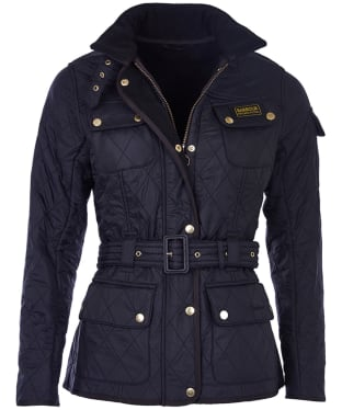 Women's Barbour International Polarquilt Jacket - Black