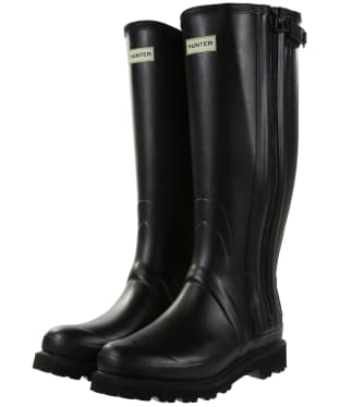 Men's Hunter Field Commando Full Zip Wellington Boots - Black