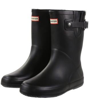 Hunter Original Kids Flat Sole Wellington Boots - Black
