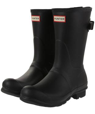 Women's Hunter Original Back Adjustable Short Wellingtons - Black