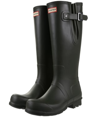 Men's Hunter Original Side Adjustable Wellington Boots - Dark Olive