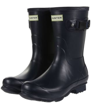 Women's Hunter Norris Field Short Wellington Boots - Navy