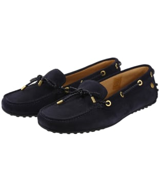 Women's Fairfax & Favor Henley Shoes - Navy Blue Suede