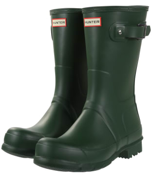 Men's Hunter Original Short Wellington Boots - Hunter Green