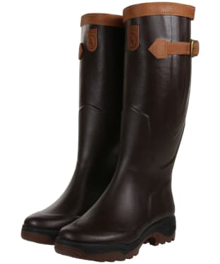 Aigle Parcours® 2 Signature Wide Fit Wellington Boots - Brown