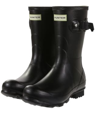 Women's Hunter Norris Field Short Wellington Boots - Black