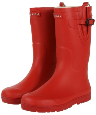 Aigle Kids Woodypop Wellington Boots - Cherry