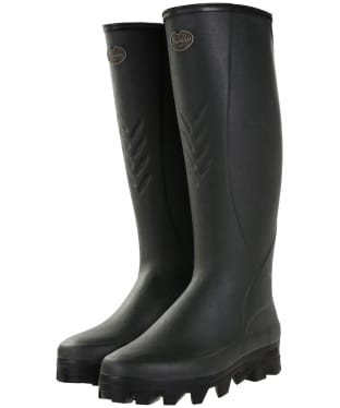 Men's Le Chameau Ceres 3mm Neoprene Lined Wellington Boots - Vert Bronze