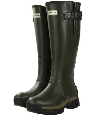 Women's Hunter Balmoral Side Adjustable 3mm Neoprene Wellingtons - Dark Olive